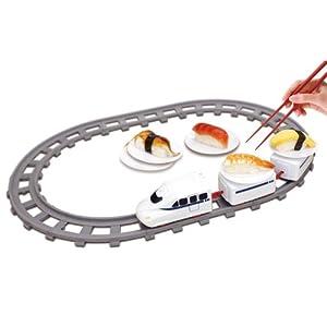 電車 おもちゃ トレイン 回転寿司 お寿司を運ぶ!レールトレイン 受け皿4枚付き