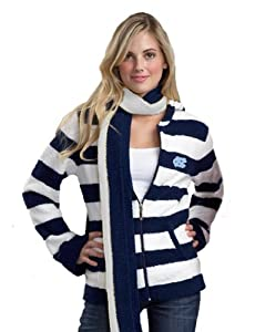NCAA North Carolina Tar Heels Kashwere U Rugby Striped Hoodie by Kashwere U