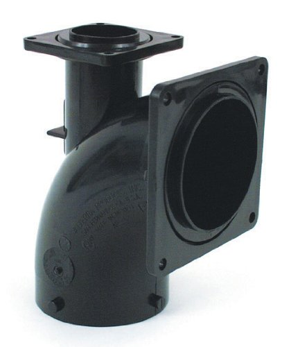 """Valterra T1031 1/4 Bend Heel Inlet with 3"""" Slip Hub x 3"""" and 1-1/2"""" Rotating Flange"""