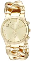 U.S. Polo Assn. Women's USC40069 Gold-Tone Link Bracelet Watch