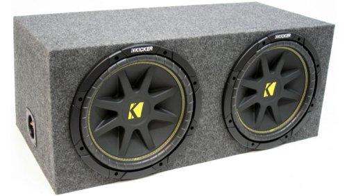 "Asc Package Dual 15"" Kicker Sub Box Sealed Rearfire Subwoofer Enclosure C15 Comp 1000 Watts Peak"