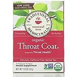 Traditional Medicinals Organic Throat Coat- Caffeine Free- 2 Pack (Total of 32 Tea Bags)