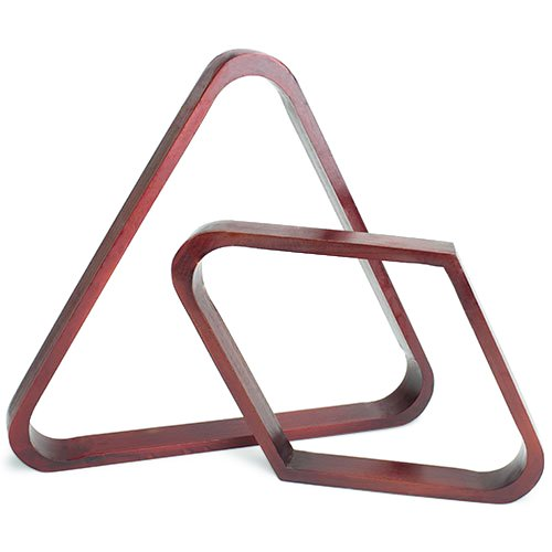 Best Price Mahogany Triangle and Diamond Billiard Ball Racks by Felson Billiard Supplies