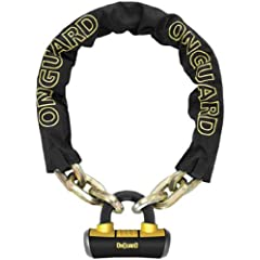 OnGuard Beast Chain Lock - 110cm x 14mm [3.57 feet x 0.55 inch] - 8016 by OnGuard