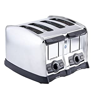 Hamilton Beach 24850 Proctor-Silex Pop-Up Toaster, 4 slot, Smart Bagel function