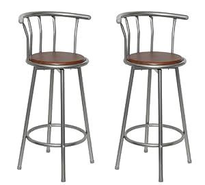 Sgabello bar cucina pub coppia di sgabelli con schienale for Sgabelli con schienale cucina
