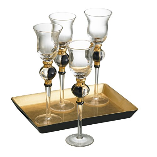 Artland Radiance Cordial Cups With Tray And Gift Box