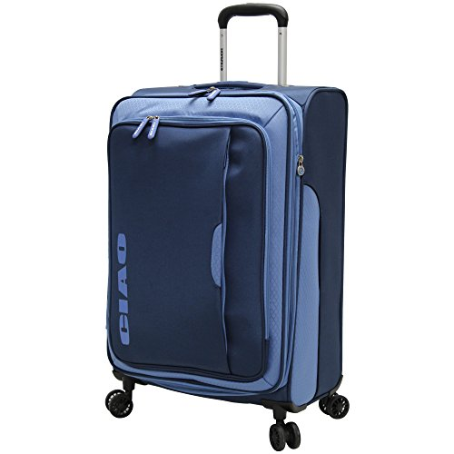 Ciao Carry On Lightweight Expandable Luggage with Spinner Wheels (Navy) (15 Spinners Wheel Covers compare prices)