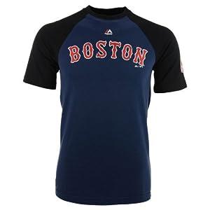 Boston Red Sox Mens Club Favorite Raglan Tee Shirt by Majestic