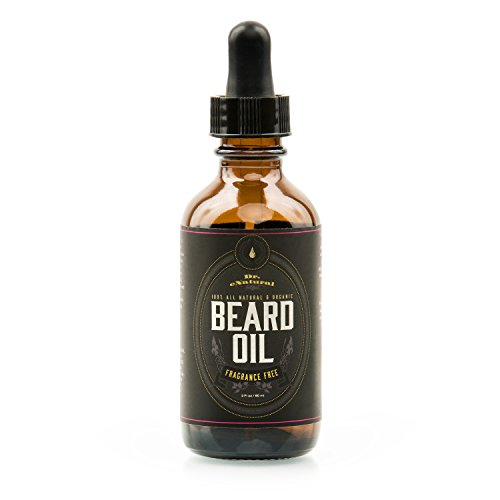 Beard Oil - Nourishing, Organic Plant-Derived Oils For Beard & Mustache Hair Growth - Leave-In Conditioner & Moisturizer - Against Itchy Skin, Beard Dandruff & Acne - Paraben Free & Vegan