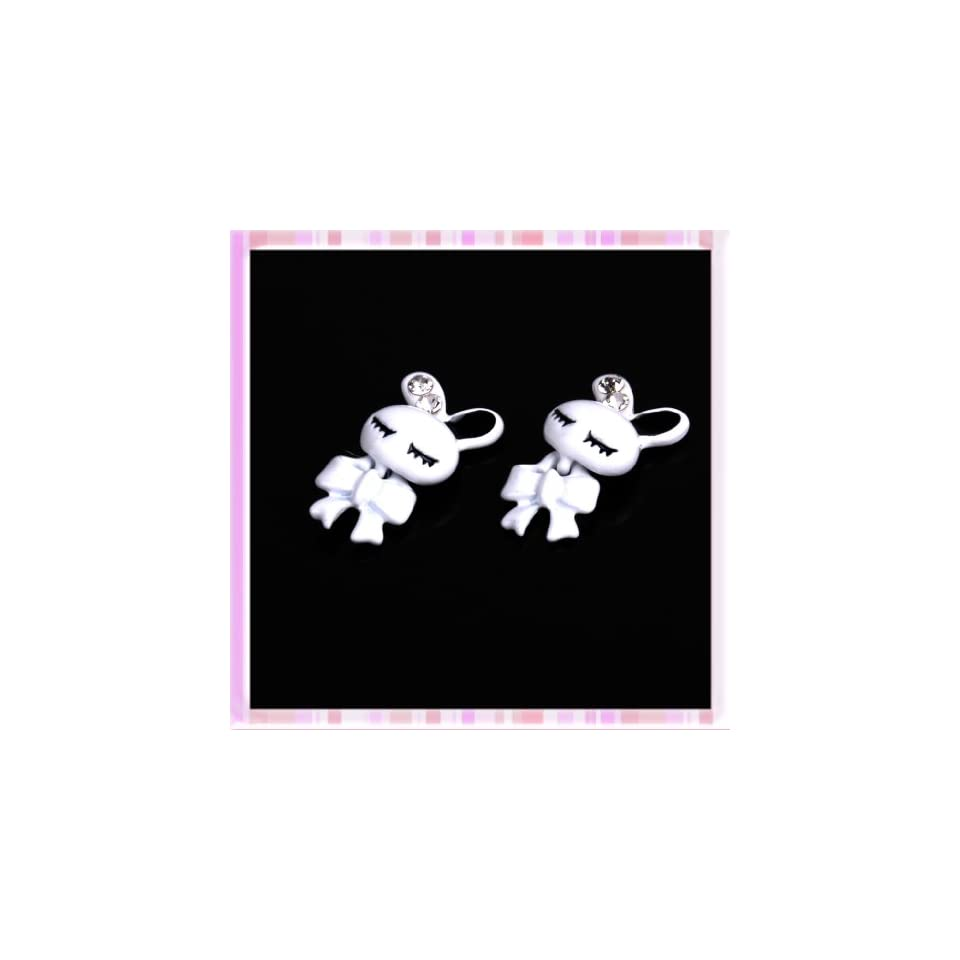 Coupling Rabbit Rhinestone Design Nail Art Sticker 2Pcs B0202 Beauty