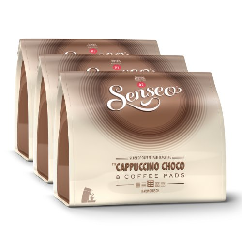 Shop for Senseo Cappuccino Choco, Design, Pack of 3, 3 x 8 Coffee Pods - Douwe Egberts