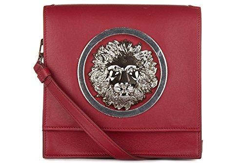 Versus Versace borsa donna a tracolla pelle borsello logo rosso