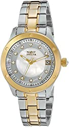 Invicta Women's 21407 Wildflower Stainless Steel and 18K Gold Ion-Plated Bracelet Watch
