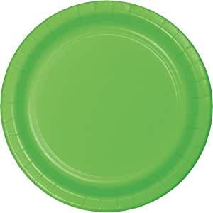 Creative Converting Touch of Color 24 Count Paper Lunch Plates, Citrus Green