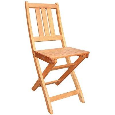 Folding 3 Slat Side Chair (Set of 2)