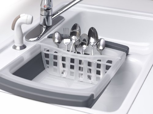 Kitchen Details In Sink Compact Dish Drainer Black