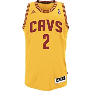 Kyrie Irving #2 Cleveland Cavaliers Adult Gold Swingman Jersey by adidas