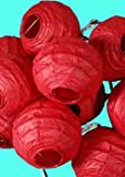 "4""D Chinese Solid Red Paper Lantern Lights (String of 10)"