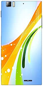 Snoogg Beauty in the day 2471 Designer Protective Back Case Cover For Lenovo A6000