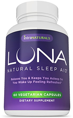 LUNA - 60 Vegetarian Capsules - #1 Routine Sleep Aid on Amazon - 100% Herbal & Non-Habit Forming Sleeping Pill (Made with Valerian, Chamomile, Passionflower, Lemon Balm, Melatonin & More!) - IntraNaturals Lifetime Stand behind