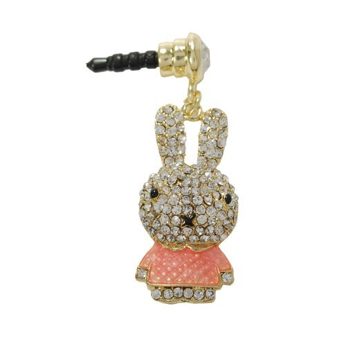 Mavis'S Diary Colorful Crystal Rhinestone Accessories Dust Plug-Earphone / Dust Plug / Ear Jack For Iphone / Ipad / Ipod Touch / Samsung Galaxy/ Samsung Note Series And Other 3.5Mm Ear Jack (Pink Rabbit)