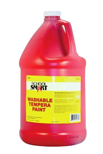 School Smart Washable Tempera Paint - Gallon - Red