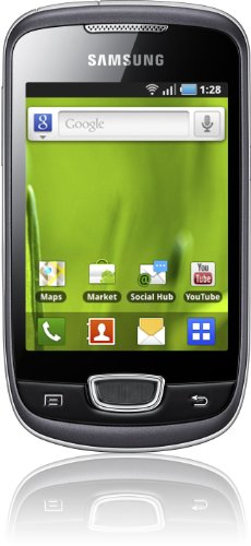 Samsung Galaxy Mini S5570 Smartphone (8,1 cm (3,2 Zoll) Display, Touchscreen, 3 Megapixel kamera, Android OS) grau