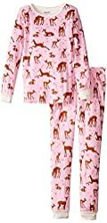 Hatley Little Girls' Pajama Set Overall Soft Deers