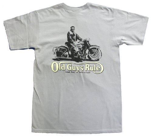 Old Guys Rule T-shirt Loud Fast Built To Last Biker-medium