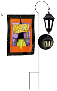 Solar Garden Flag Lantern Stand 18 In X 32