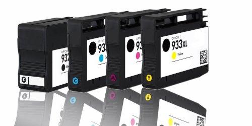 Premium 4er Pack Tintenpatronen für HP 932XL 933XL CN053AE , CN054AE , CN055AE , CN056AE HP Hewlett Packard Officejet 6100 6600 6700 kompatibel (BK,C,Y,M)