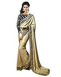 Surat Tex Beige Color Soft Jacquard Embroidered Party Wear Saree with Blouse Piece-H359SE3115PR