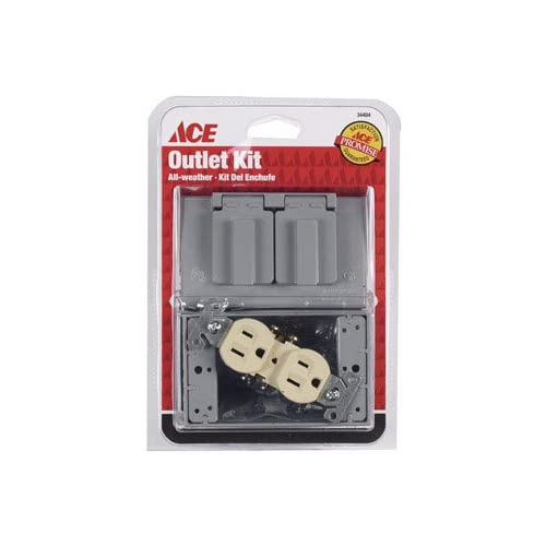 Ace Weatherproof Duplex Outlet Kit (34404) - Electrical Boxes - Amazon
