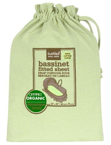 Kushies Organic Jersey Bassinet Fitted Sheet, Green