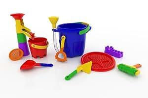 Made For Fun 13 piece Sand Bucket Playset, Blue bucket