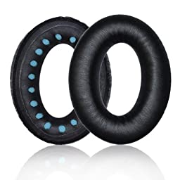 Replacement Earpad ear pad Cushions For Bose QuietComfort QC2, QC15, QC25, AE2 Headphone With IT IS Logo Headphone Cable Cord Clip