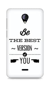 Amez Be the Best version of Yourself Back Cover For Micromax Unite 2 A106