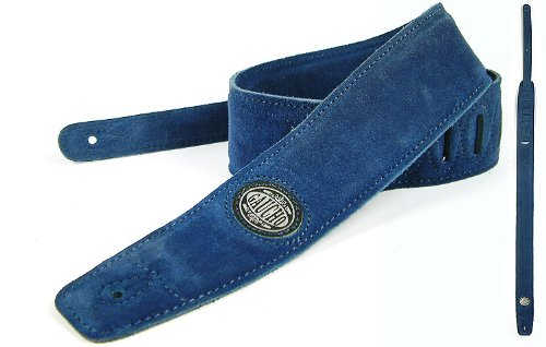 Blue Guitar Strap: 'Padded' Suede Electric/Acoustic/Electro/Bass (1.33M) Gifts