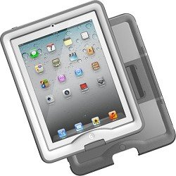 LifeProof Nuud Case & Cover / Stand for iPad 2/3/4 - White / Gray