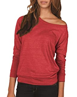 Ladies Eco-Jersey Slouchy Pullover, True Red Large