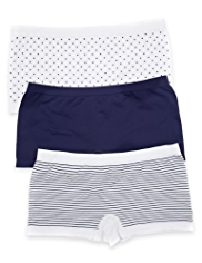 3 Pack High Rise Assorted Seamfree Shorts