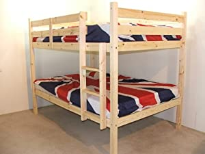 Adult Bunkbeds   3ft Single, solid pine, includes TWO luxury 20cm thick sprung mattresses       Customer review and more news