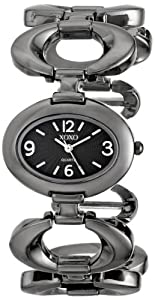 XOXO Women's XO5207 Black Dial Gun Metal Open Link Bracelet Watch