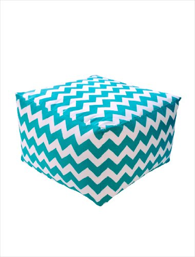 Dormify Poufs - Teal Zig Zag - Seating, Ottoman, Coffee Table