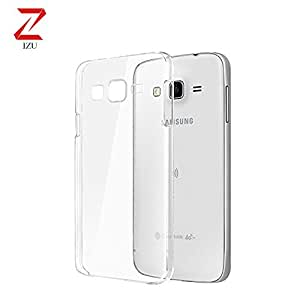 Samsung Galaxy- J5 Case, IZU PRO+ Japanese Technology [Clear Cushion] Premium Clear Case Soft Back Panel + TPU Bumper for Samsung Galaxy- J5 - Shock Absorbing + Scratch Resistant Frame Cover Case - Clear