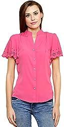 ShilpKala Women's Short Sleeve Top (skt3056m, Pink, Medium)