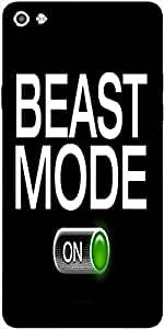 Snoogg Beast Mode - On Designer Protective Back Case Cover For Micromax Canvas Silver 5 Q450