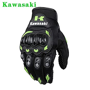Kawasaki Motorcycle gloves retro Moto racing gloves Motocross full finger gloves Cycling glove M L XL XXL (M: 8-8.5 cm)