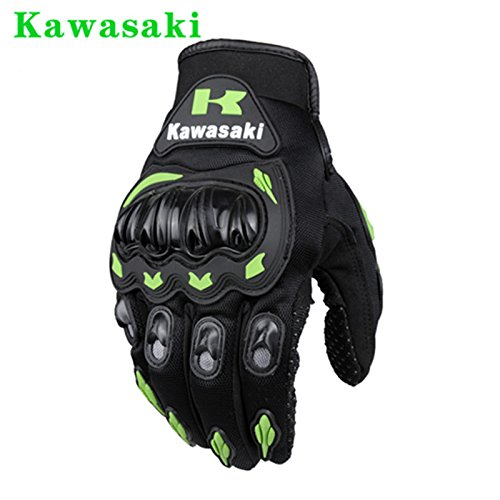 Kawasaki Motorcycle gloves retro Moto racing gloves Motocross full finger gloves Cycling glove M L XL XXL (M: 8-8.5 cm) 1